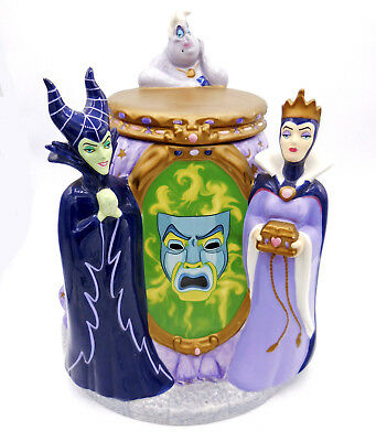 Disney Cookie Jars >> Disney Cookie Jar Villains Maleficent Ursula Evil Queen Magic Mirror C2005