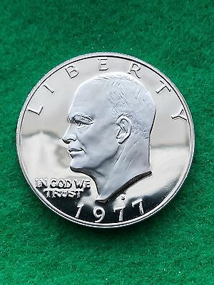 """1977 S  Eisenhower """"IKE""""  dollar- cameo   Uncirculated- proof **"""