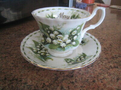 Royal Albert May Flower Of The Month Lily Of The Valley Cup And Saucer