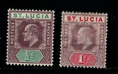 Item No. A6980 – St. Lucia – Scott # 43-44 – MH