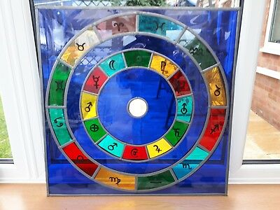 faux stained glass zodiac design