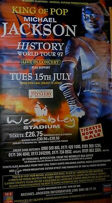 Michael Jackson 'King of Pop' 15th July 1997 Wembley promotional giant poster