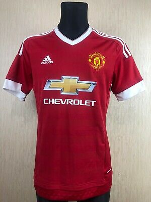 6adb927a9 Manchester United 2015/2016 Home Football Soccer Shirt Jersey Adidas Size M