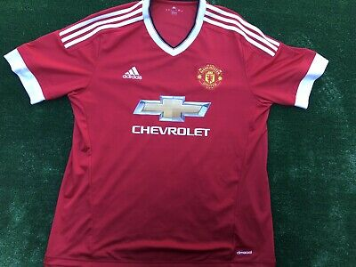 1fc76d6d adidas Manchester United 15/16 Home Risk Red Jersey Authentic Men's Size XL