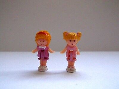 Vintage Polly Pocket 2x Figures for Pollies Polly's Flat 1989