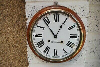 Antique Seth Thomas School / Station Wall Clock