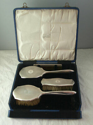 Charming Child's Solid Silver 4pc Dressing Table Set - Birm. 1927
