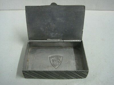 Antique advertising box Peugeot tin made by hand in Portugal