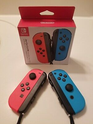 Nintendo Switch Left and Right Joy-Con Controllers Neon Red/Neon Blue Brand New!