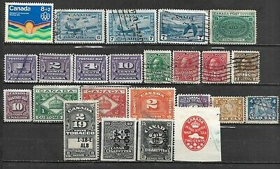 Collection Lot Of 24 Canada Bob 1898+ Stamps Cv + $ 36