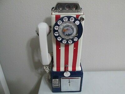 Vintage 1976 Bicentennial Western Electric Payphone 3 Slot Rotary Telephone~NICE