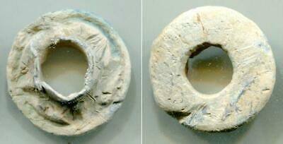 (16000)Early Islamic Lead Button from Shash oasis