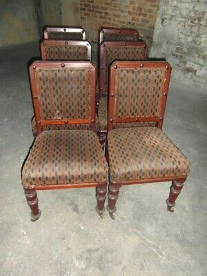 Set Of Six Gothic Style Victorian Dining Chairs