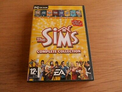 THE SIMS COMPLETE COLLECTION BOX SET w. ALL 7 EXPANSIONS & BOOK/CODE