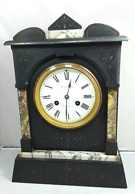 Antique Richard & Cie French Marble Mantle Mantel Clock Full Working Order