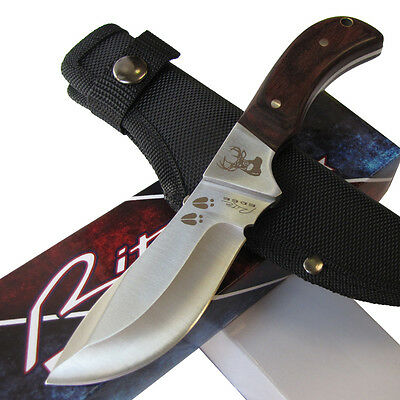 "Deer Hunter Skinner Hunting Knife - 8"" Fixed Blade Full Tang Sheath - Rite Edge"