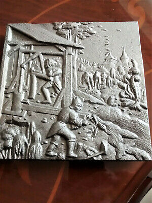 V. heavy cast iron? trivet/wall plaque made in the Eikhoff foundry Germany