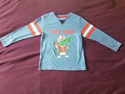 Boys Longsleeve Top Age 4-5 Blue and red t-shirt  From Tu. Smoke Free Home