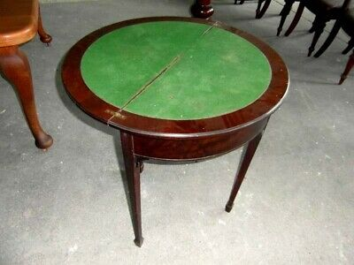 Demi Lune Turn Over Top Games Table