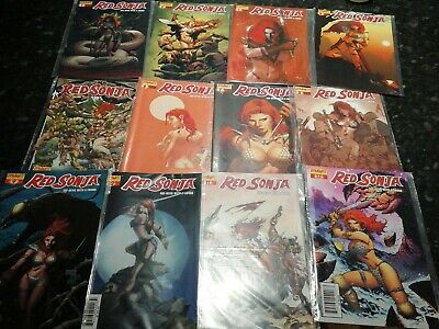 Red Sonja #1-12 Dynamite Series 2005 Nm Great Covers 12 Issues Total