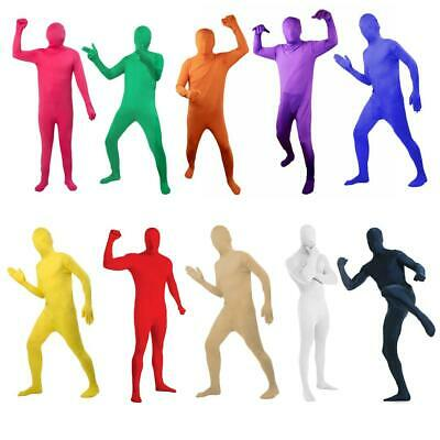 Full Body Invisible Party Costume Novelties Morph Suit Colorful Adult Unisex