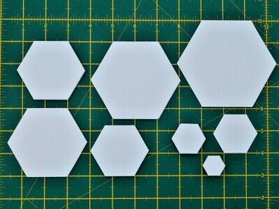 1000 LASER CUT HEXAGON PATCHWORK PAPER TEMPLATES ONE INCH SIDES EPP HEXIES