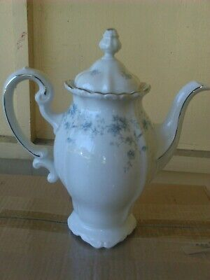 VINTAGE BEAUTIFUL Johann Haviland Blue Garland Coffee Tea Pot Bavaria Germany