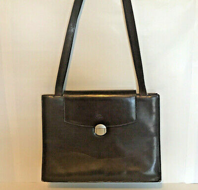 I Ponti Firenze Bag Satchel Shoulder Brown Leather Medium Size Made in Italy