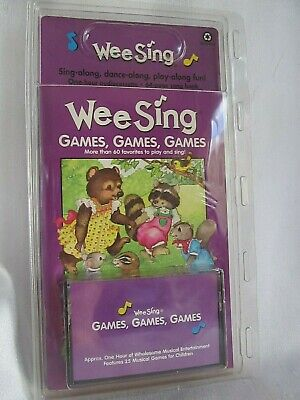 Childrens Book with Cassette Tape Wee Sing Games, Games, Games