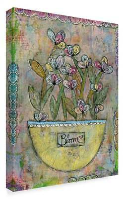 Funked Up Art 'Bloom Pink' Gallary Wrapped Canvas Art [ID 3769591]