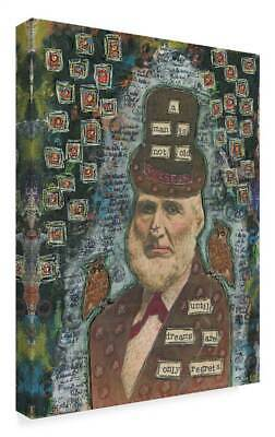 Funked Up Art 'Wisdom Top Hat' Gallary Wrapped Canvas Art [ID 3769575]