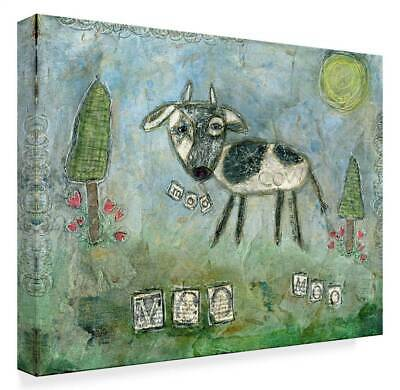 Funked Up Art 'Moo' Gallery Wrapped Canvas Art [ID 3769231]