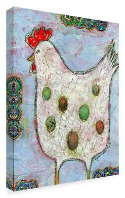 Funked Up Art 'Chicken White' Gallary Wrapped Canvas Art [ID 3769635]