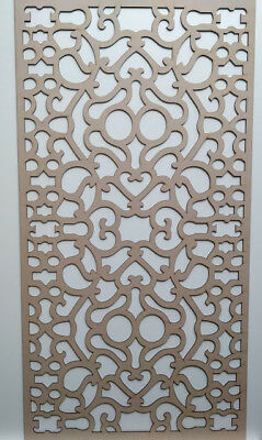 Radiator Cabinet Decorative Screening Perforated 3mm & 6mm thick MDF laser cutF1