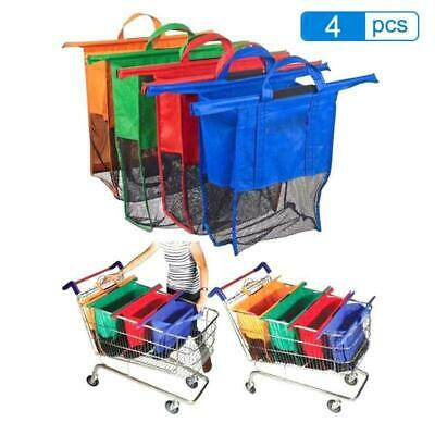 Set of 4 Reusable Grocery Shopping Supermarket Cart Trolley Bags Eco Foldable