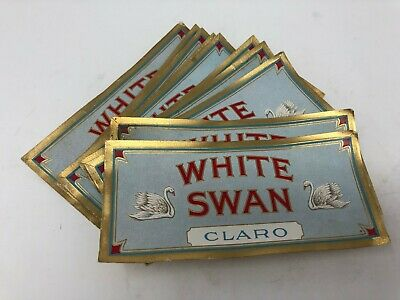 Lot of 40 White Swan Dairy Claro Paper Labels Vintage New Old Stock Authentic