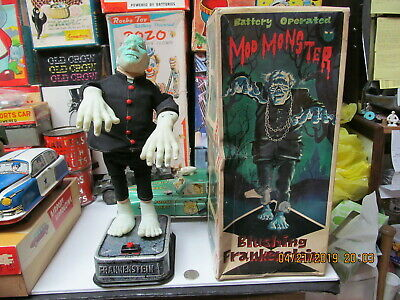 Blushing Frankenstein Mod Monster 1960 Boxed Battery Operated Toy N Mint Works