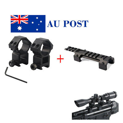 Hunting Long 128mm Base Mount Adapter 30mm Ring Scope Mount 20mm Rail Airsoft