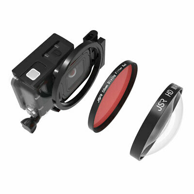 For GoPro Hero7 6 5 Camera 58mm 24X Close-up Magnifier Macro Red Lens Filter Kit