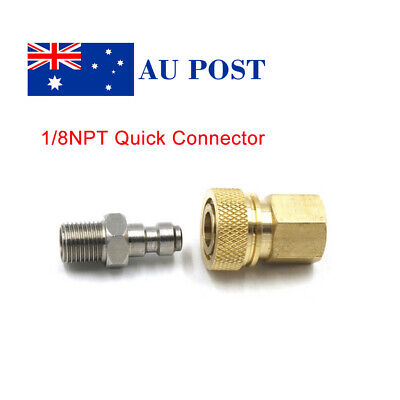 1/8 NPT Quick Release Disconnect Coupler Adapter Female Male Air Hose Connecter