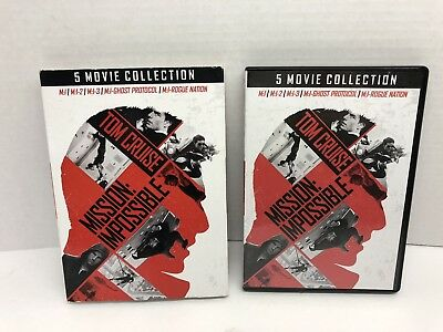Tom Cruise Mission Impossible 5 Movie Collection DVD