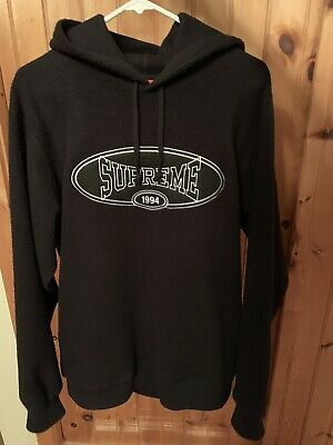f6d6a5b486fd Supreme Reverse Fleece Hooded Sweatshirt Black Size Large  NEED GONE ASAP