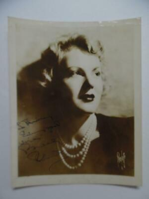 1940 BEVERLY ROBERTS Signed Inscribed Photo Movie Star Actress Vintage Original