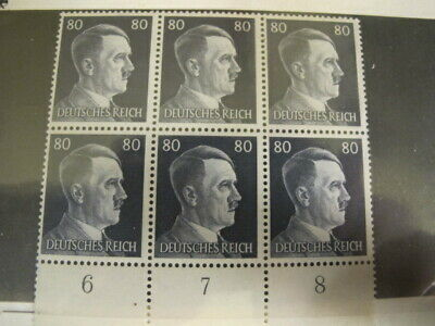 Germany Third Reich Hitler 2 Blocks Stamps