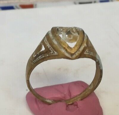 Amazing Ancient Ornament Viking Bronze Ring Artifact Beautiful