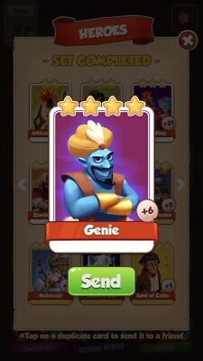 Coin Master Genie *RARE* Buy One Card, Get Additional Cards Free. Fast Delivery