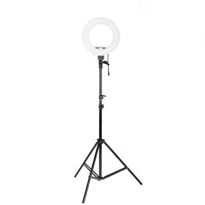 "12""Ring Light LED Camera Lamp with Stand Cellphone Clip Holder for YouTube Video"