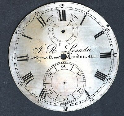 Dial of an 8-day Marine  Chronometer from JR Losada N.4111