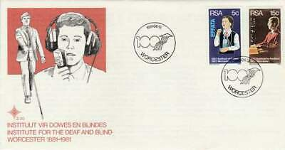 Envelop FDC RSA / Zuid-Afrika 1981 - Institue for Deaf and Blind (188)