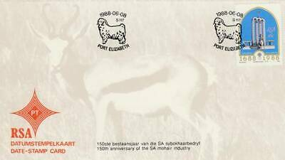 Data-stamp card RSA 1988 S117 - Mohair Industry Post Elizabeth (23)